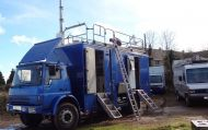 (OB30) 2002 Euro4 High definition uplink / links point to point truck. Full HDSDI. UPS , mast
