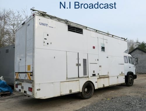 OB36 Mercedes left hand drive (ideal for Europe) 8 camera SDI truck with large built in generator (has SNG setup for 1.5m dish also)