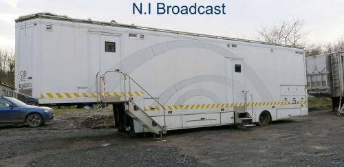 OB45 12-16  camera SDI camera outside broadcast trailer obvan with air con.