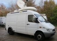 SOLD   OB54  2006 mercedes sprinter camera / SNG truck  with 1.2m SNG ku band dish.