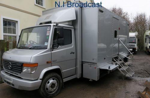 OB67  8metre mercedes expanding OB van camera truck (6-8 camera) (75,000 miles)