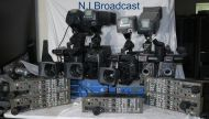 "5x Ikegami hc400w pal  16:9  complete triax cameras with DTS compact CCUs, RCPs, lenses, B4/ 2/3"" mount. SD triax"