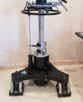 Black Vinten teal steerable lightweight pedestal