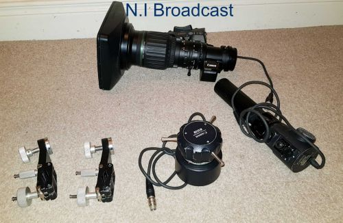 Canon hj14ex4.3b iase high definition lens with extender and zoom and focus remotes