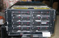 HP module server bl 3000 frame with 8x servers installed