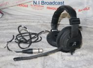 Riedel intercom headset with microphone