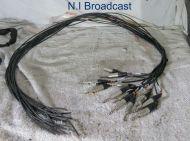 13x neutrik large jack connectors with cable