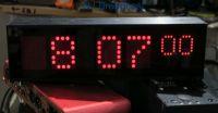 Vortex digital LED clock (30cm wide)