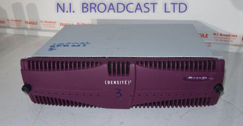 Grass Valley miranda densite 3 with 20x 3G eap3901advanced embedded audio processor 32chand 2x PSU (ref 3)