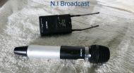 Sony hand held wirelss mic utx-h2 with receiver URX-P2 belt back (ch 42-45)