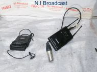 Sony lavalier wireless mic with utx-b2 TX and 1x utx-h2 with RX URX-P2 belt back (ch 42-45) with cable