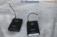 Sony utx-b2 TX and 1x utx-h2 with RX URX-P2 belt back (ch 42-45) with cable