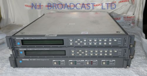 2x tektronix tg700 master SPGS wand HDSDI high definition options and audio and seperate changeover