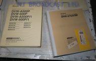 7x Sony DVW500p  dnwa75p service / operation manuals