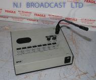 (ref 2) RTS dkp8 8 channel desktop intercom panel with microphone