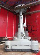 Vinten fulmar studio pedestal with good wheels, steer and crab