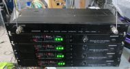 4x Samson broadcast br3 wirless receivers (vhf-fm ) with da4