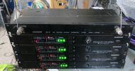 4x Samson broadcast br3 wirless receivers (vhf-fm ) with da4