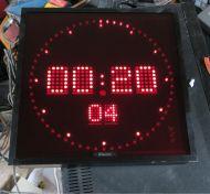 Wharton LED digital studio clock for studio broadcast room