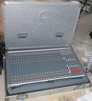 Flightcased Soundcraft D/mon24 24 mic input 10 group sound mixer with dual PSU
