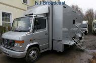 SOLD  OB67  8metre mercedes expanding OB van camera truck (6-8 camera) (75,000 miles)