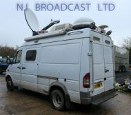 OB72 Mercedes Sprinter with 1.2m U pod ku band dish,, 12kva panda generator ,
