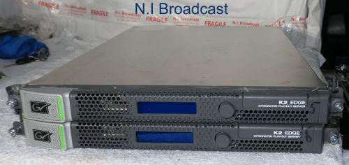 2x Grass Valley K2 Edge playout server / graphics HDX option   (server 5, 6))