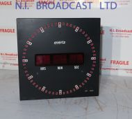 Evertz digital clock with timecode and manual start. (23cm)