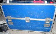 Large studio audio sound mixer / video mixer flightcase on castor wheels 138x50x85cm